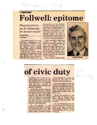 Follwell: epitome of civic duty