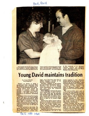 Young David maintains tradition