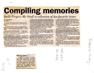 Compiling memories