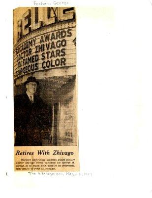 Retires with Zhivago