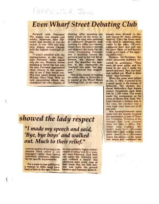 Remember when: Even Wharf Street Debating Club showed the lady respect