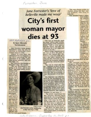 City's first woman mayor dies at 93