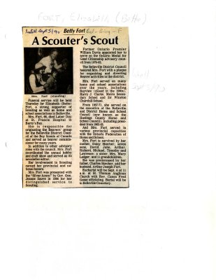 A Scouter's scout: Betty Fort