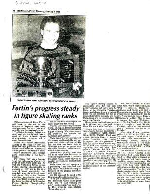 Fortin's progress steady in figure skating ranks