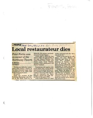 Local restaurateur dies