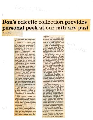Don's eclectic collection provides personal peek at our military past