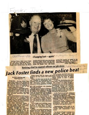 Jack Foster fidns a new police beat