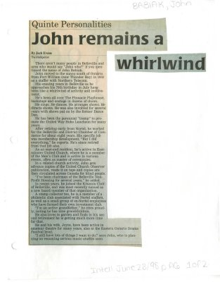 John remains a whirlwind