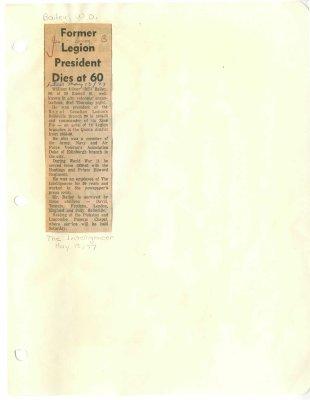 Former Legion President dies at 60