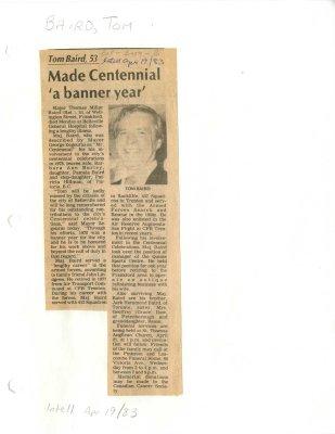 """Made Centennial """"a banner year"""""""