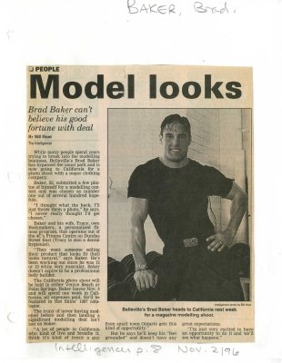 Model looks: Brad Baker can't believe his fortune with deal