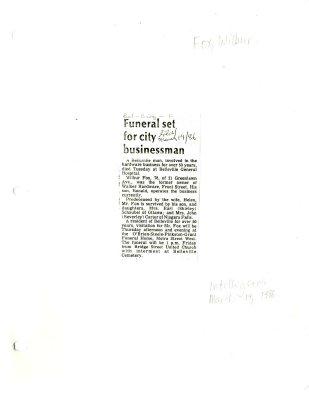 Funeral set for city businessman