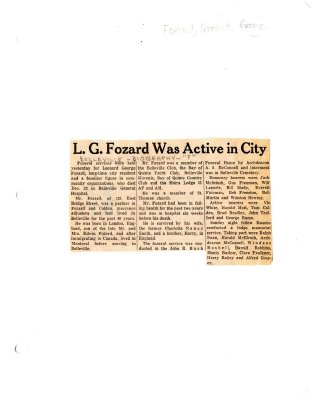 L. G. Fozard was active in City