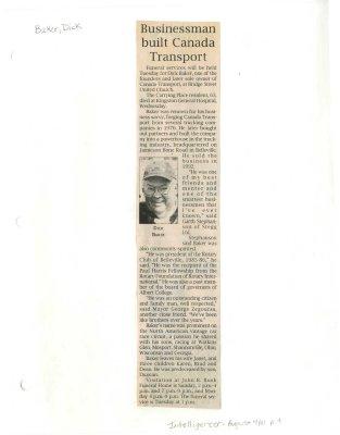 Businessman built Canada Transport