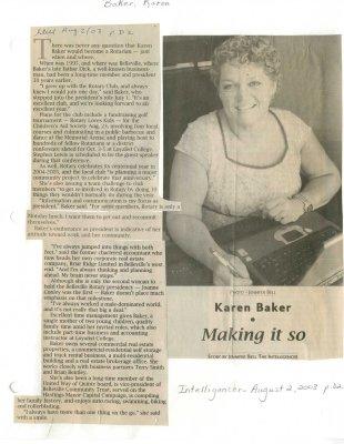 Karen Baker - Making it so