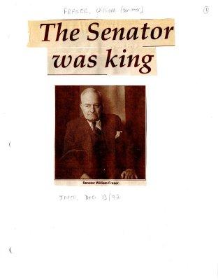 The Senator was king