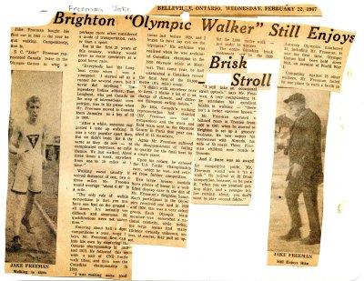 """Brighton """"Olympic Walker"""" still enjoys brisk stroll"""