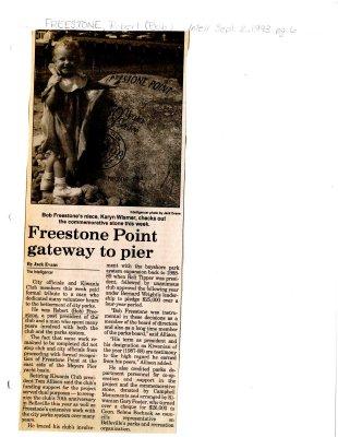 Freestone Point gateway to Pier