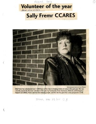Volunteer of the year: Sally Fremr CCares