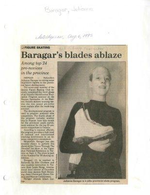 Baragar's blades ablaze