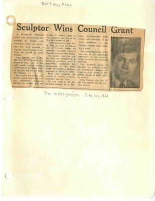 Sculptor wins council grant