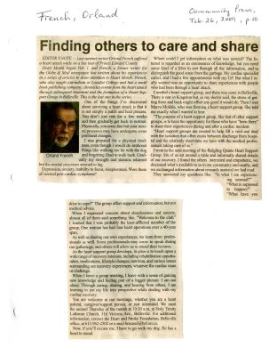 Finding others to care and share
