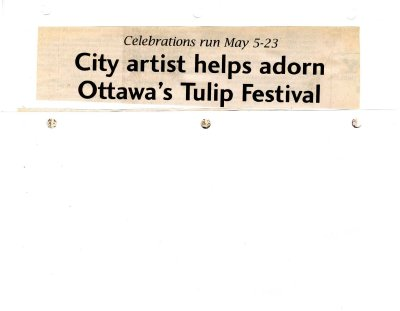 City artist helps adorn Ottawa's Tulip Festival