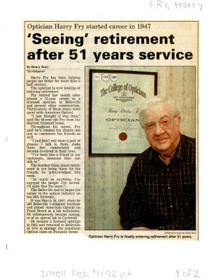 Seeing retirement after 51 years service