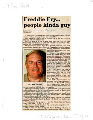 Freddie Fry... people kinda guy