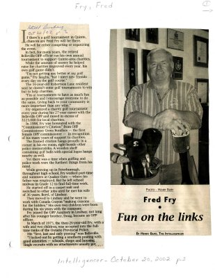 Fred Fry: Fun on the links