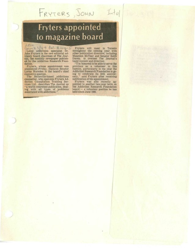 Fryters appointed to magazine board