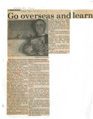 Go overseas and learn