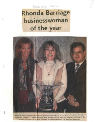 Rhonda Barriage businesswoman of the year