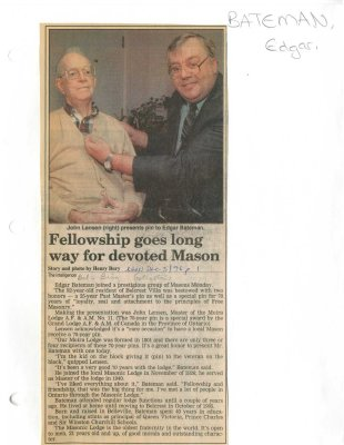 Fellowship goes long way for devoted Mason