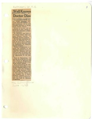 Well known doctor dies