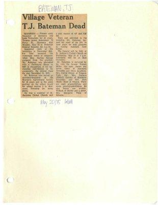 Village Veteran T.J. Bateman dead