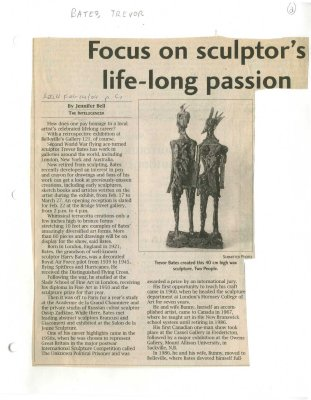 Focus on sculptor's life-long passion