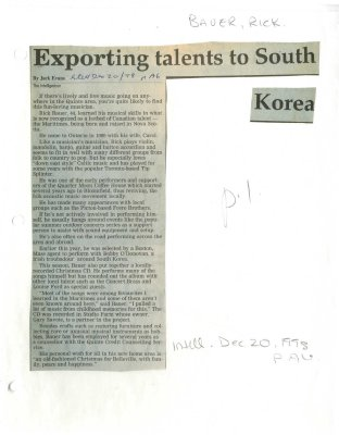 Exporting talents to South Korea