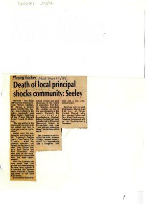 Death of local principal shocks community: Seeley