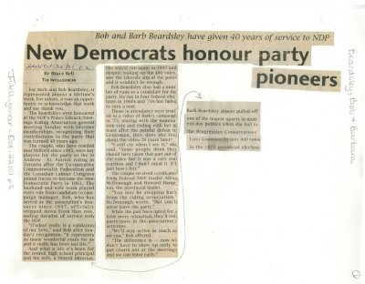 New Democrats honour party pioneers