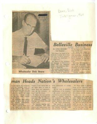 Belleville Business man heads Nation's Wholesalers