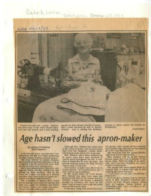 Age hasn't slowed this apron-maker