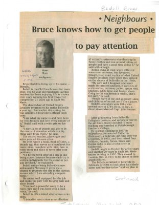 Bruce knows how to get people to pay attention