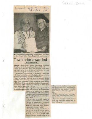 Town crier awarded