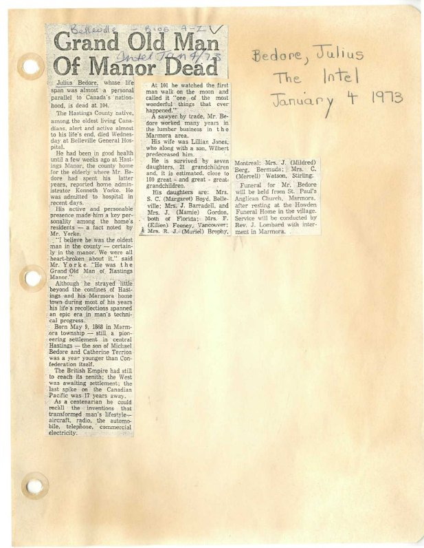 Grand old man of Manor dead