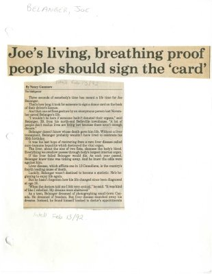 Joe's living, breathing proof people should sign the 'card'