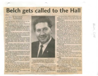 Belch gets called to the Hall