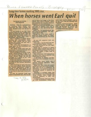 When horse went Earl quit