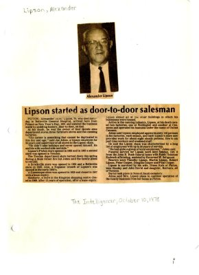 Lipson started as door to door salesman