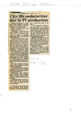 City life underwriter key in TV production
